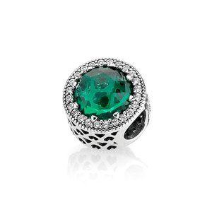 Pandora Sparkling Sea Green Charm